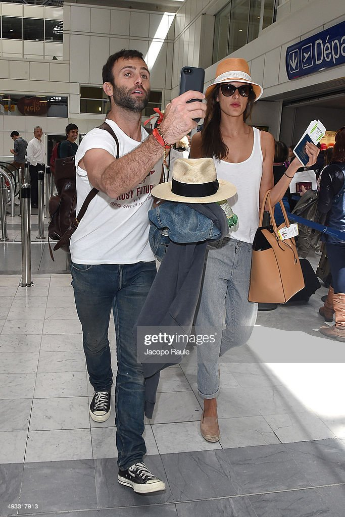 Alessandra Ambrosio and Jamie Mazur are seen arriving in Nice for the 67th Annual Cannes Film Festival>> on May 23, 2014 in Nice, France.