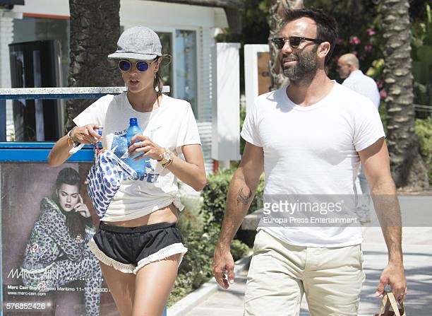 Alessandra Ambrosio and Jamie Mazur are seen on July 17 2016 in Marbella Spain