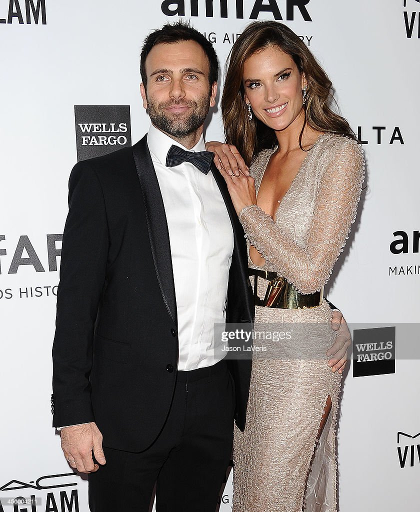 Alessandra Ambrosio and Jamie Mazur attend the amfAR Inspiration Gala at Milk Studios on December 12, 2013 in Hollywood, California.