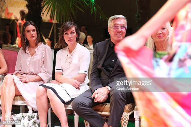 Alessandra Ambrosio and Milla Jovovich Helmut Schlotterer Founder and CEO of Marc Cain during the Marc Cain fashion show spring/summer 2017 at CITY...