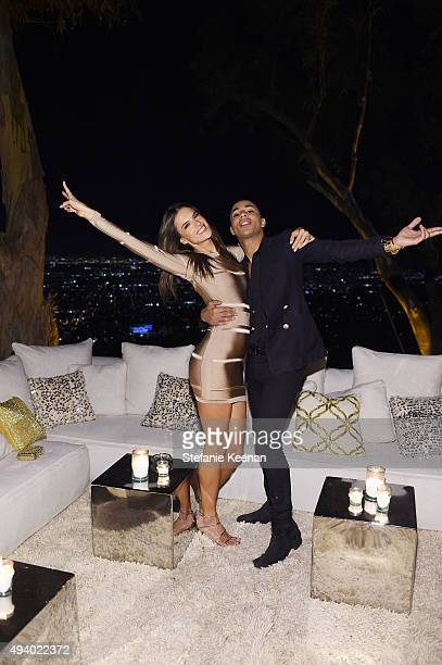 Alessandra Ambrosio and Olivier Rousteing attend Olivier Rousteing Beats Celebrate In Los Angeles at Private Residence on October 23 2015 in Los...