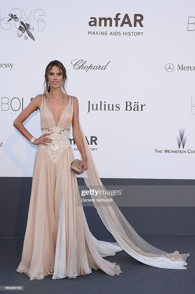 Alessandra Ambrosio arrives at amfAR's 20th Annual Cinema Against AIDS at Hotel du Cap-Eden-Roc on May 23, 2013 in Cap d'Antibes, France.