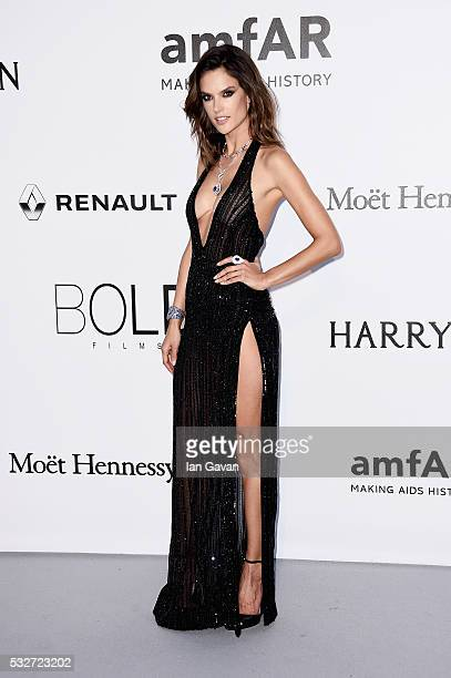 Alessandra Ambrosio arrives at amfAR's 23rd Cinema Against AIDS Gala at Hotel du CapEdenRoc on May 19 2016 in Cap d'Antibes France