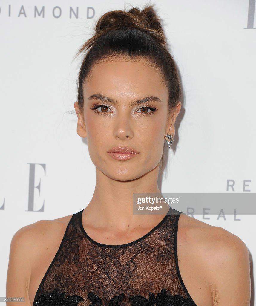 Alessandra Ambrosio arrives at ELLE's 24th Annual Women in Hollywood Celebration at Four Seasons Hotel Los Angeles at Beverly Hills on October 16, 2017 in Los Angeles, California.