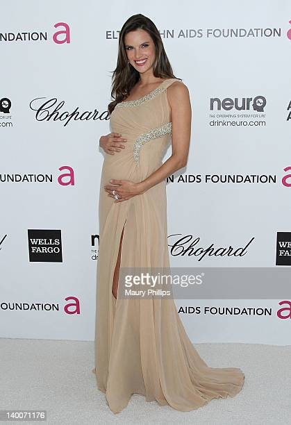 Alessandra Ambrosio arrives at the 20th Annual Elton John AIDS Foundation Academy Awards Viewing Party at Pacific Design Center on February 26 2012...