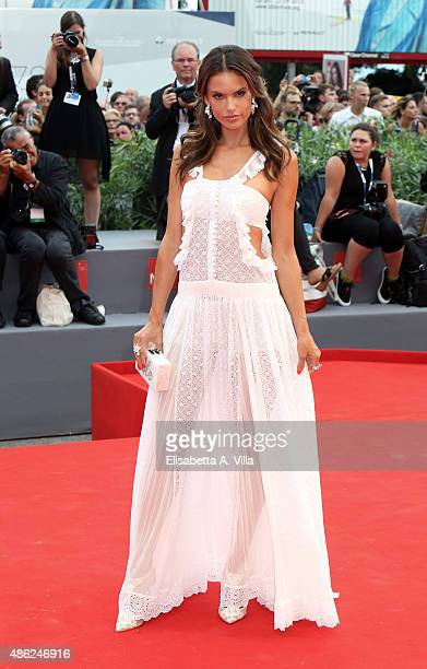 Alessandra Ambrosio attend the opening ceremony and premiere of 'Everest' during the 72nd Venice Film Festival on September 2 2015 in Venice Italy