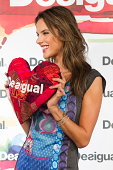 Alessandra Ambrosio attend the photocall 'Desigual' in princess shop on September 11 2014 in Madrid Spain