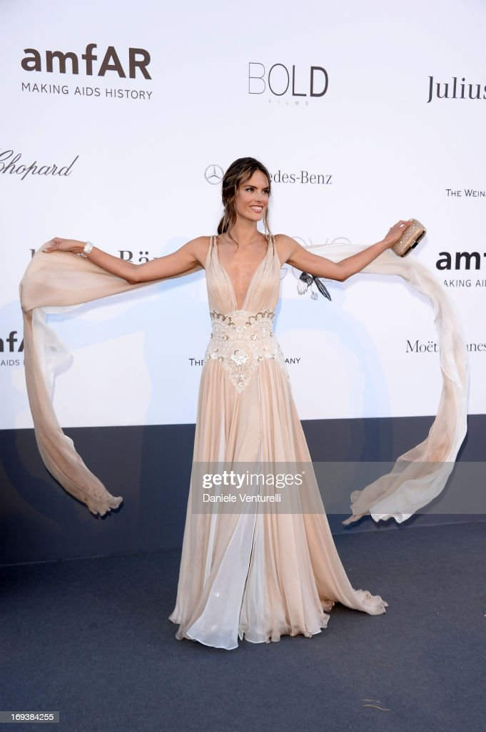 Alessandra Ambrosio attends amfAR's 20th Annual Cinema Against AIDS during The 66th Annual Cannes Film Festival at Hotel du Cap-Eden-Roc on May 23, 2013 in Cap d'Antibes, France.