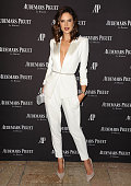 Alessandra Ambrosio attends attend the grand opening of the Audemars Piguet Rodeo Drive Boutique on December 9 2015 in Beverly Hills California