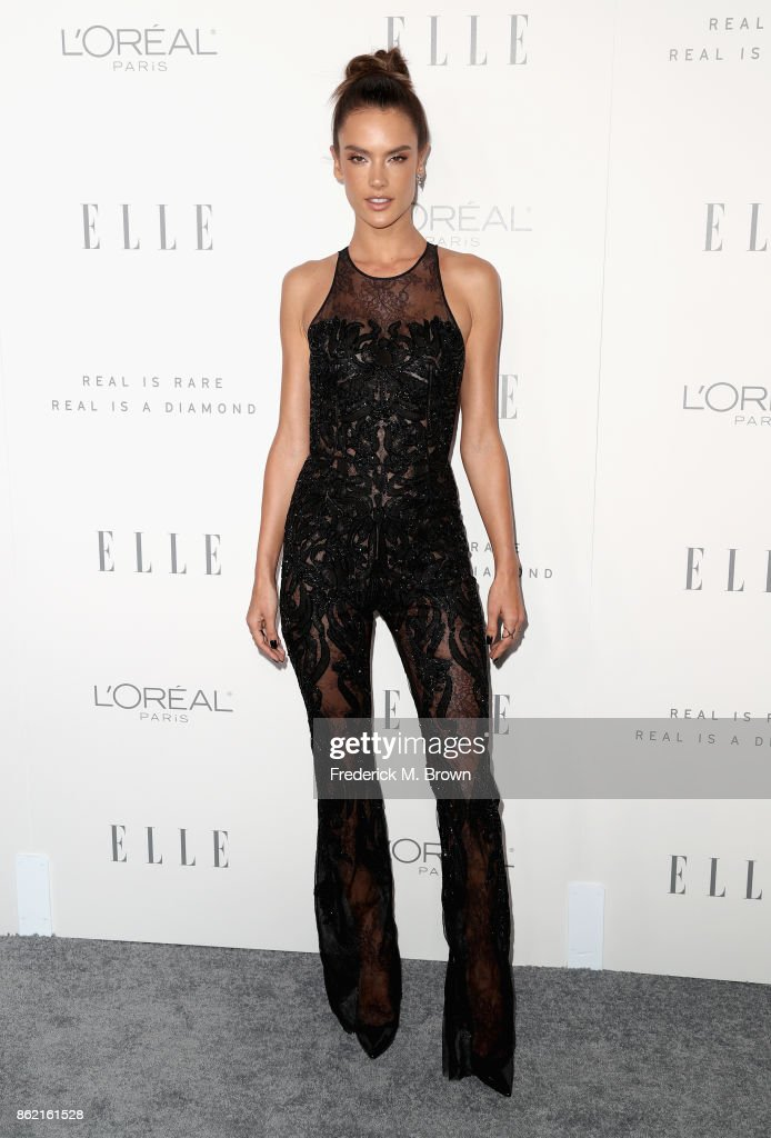 Alessandra Ambrosio attends ELLE's 24th Annual Women in Hollywood Celebration at Four Seasons Hotel Los Angeles at Beverly Hills on October 16, 2017 in Los Angeles, California.