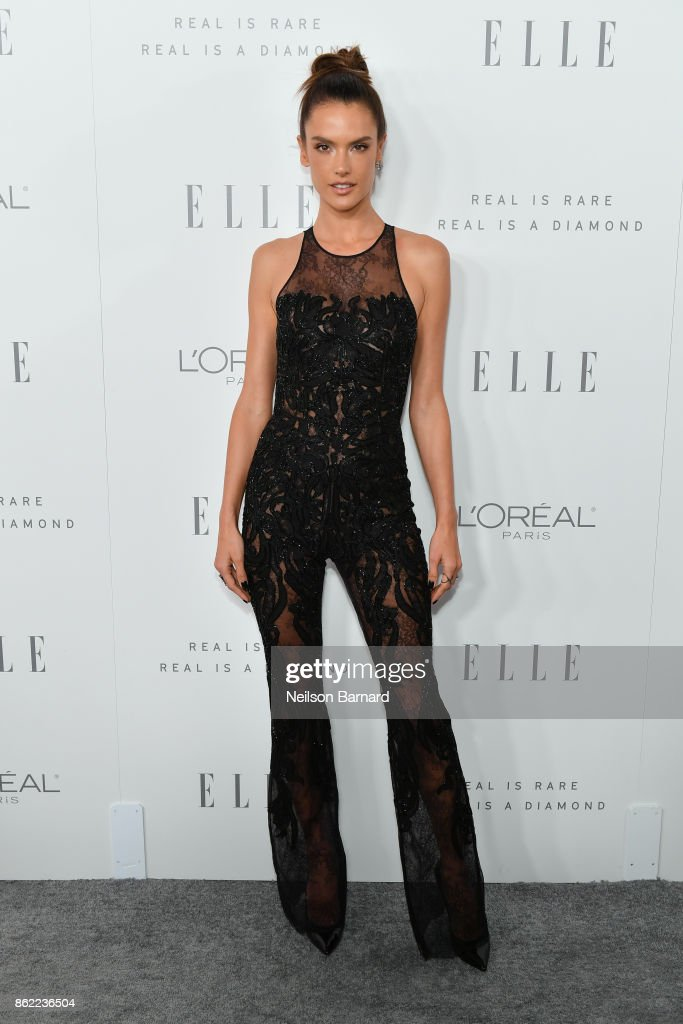 Alessandra Ambrosio attends ELLE's 24th Annual Women in Hollywood Celebration presented by L'Oreal Paris, Real Is Rare, Real Is A Diamond and CALVIN KLEIN at Four Seasons Hotel Los Angeles at Beverly Hills on October 16, 2017 in Los Angeles, California.