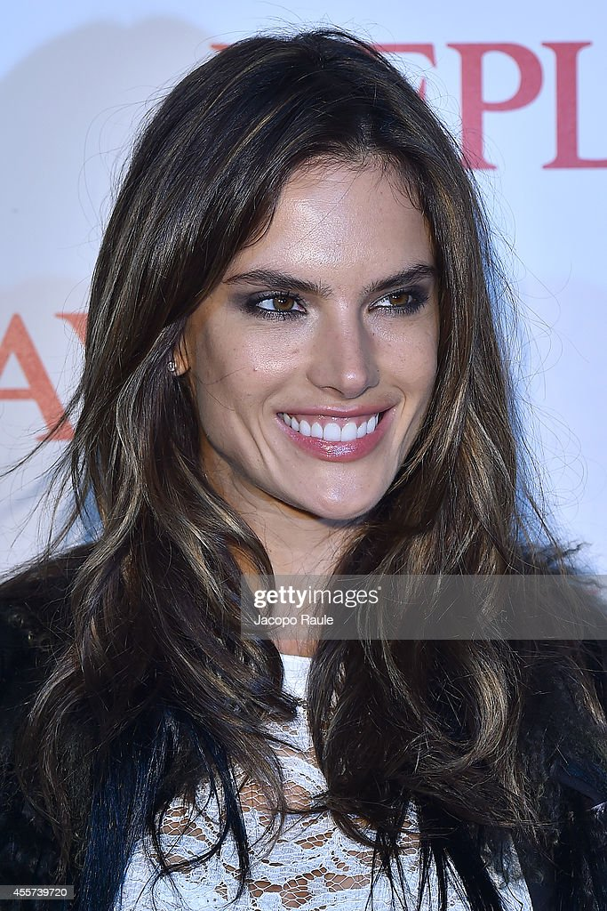 Alessandra Ambrosio attends Replay Store Preview during Milan Fashion Week Womenswear Spring/Summer 2015 on September 19, 2014 in Milan, Italy.