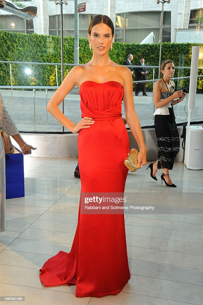 Alessandra Ambrosio attends the 2014 CFDA fashion awards at Alice Tully Hall, Lincoln Center on June 2, 2014 in New York City.