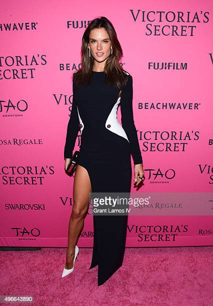 Alessandra Ambrosio attends the 2015 Victoria's Secret Fashion After Party at TAO Downtown on November 10 2015 in New York City