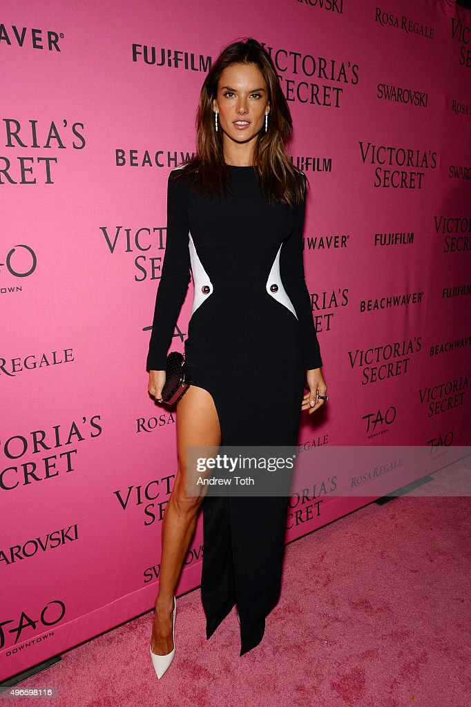 Alessandra Ambrosio attends the 2015 Victoria's Secret Fashion Show after party on November 10, 2015 in New York City.