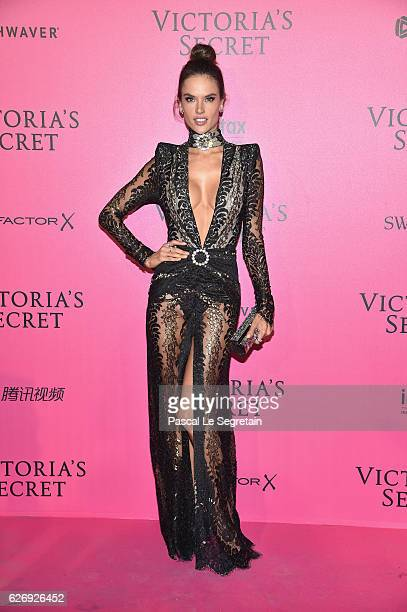 Alessandra Ambrosio attends the 2016 Victoria's Secret Fashion Show after party on November 30 2016 in Paris France