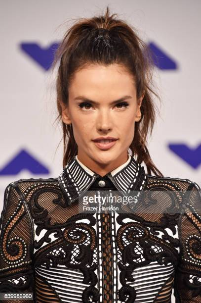 Alessandra Ambrosio attends the 2017 MTV Video Music Awards at The Forum on August 27 2017 in Inglewood California