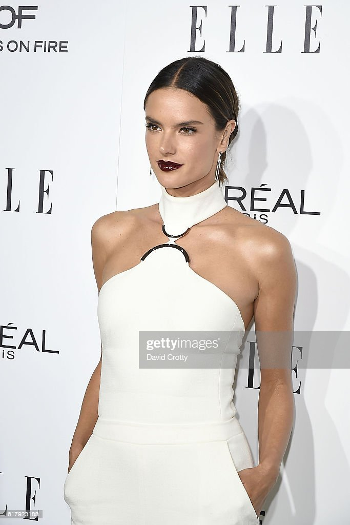 Alessandra Ambrosio attends the 23rd Annual ELLE Women In Hollywood Awards - Arrivals at The Four Seasons Hotel on October 24, 2016 in Beverly Hills, California.