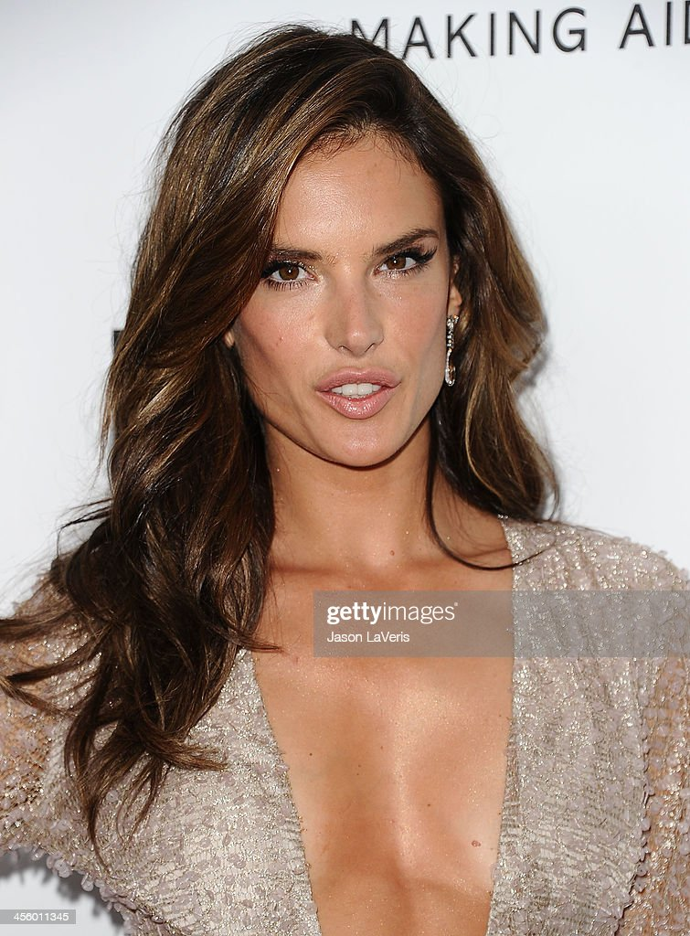 Alessandra Ambrosio attends the amfAR Inspiration Gala at Milk Studios on December 12, 2013 in Hollywood, California.