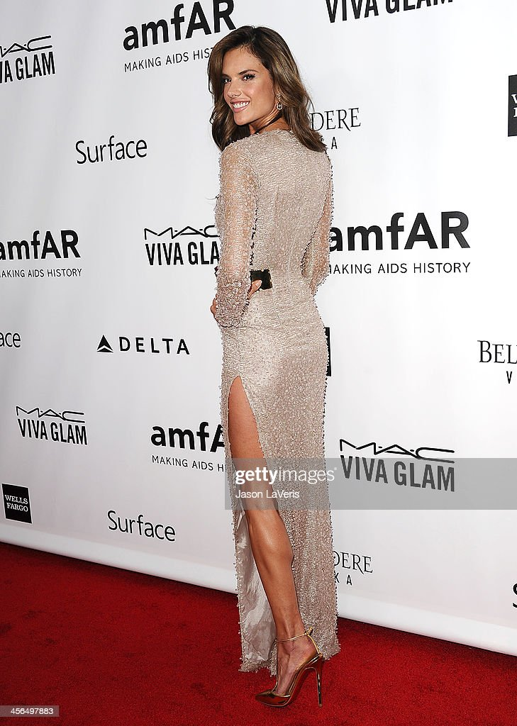 Alessandra Ambrosio attends the amfAR Inspiration Gala at Milk Studios on December 12, 2013 in Hollywood, California.