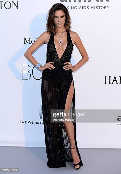 Alessandra Ambrosio attends the amfAR's 23rd Cinema Against AIDS Gala at Hotel du CapEdenRoc on May 19 2016 in Cap d'Antibes France
