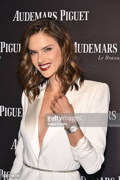 Alessandra Ambrosio attends the Audemars Piguet grand opening of Rodeo Drive Boutique at Audemars Piguet on December 9 2015 in Beverly Hills...