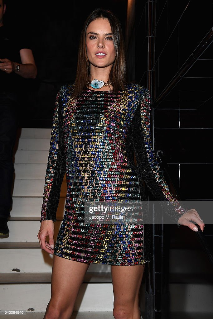 <a gi-track='captionPersonalityLinkClicked' href=/galleries/search?phrase=Alessandra+Ambrosio&family=editorial&specificpeople=203062 ng-click='$event.stopPropagation()'>Alessandra Ambrosio</a> attends the Balmain Menswear Spring/Summer 2017 after party as part of Paris Fashion Week at Les Bains on June 25, 2016 in Paris, France.