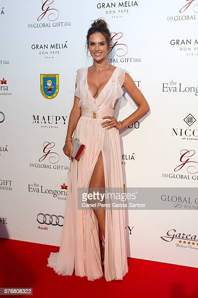 Alessandra Ambrosio attends the Global Gift Gala 2016 red carpet at Gran Melia Don pepe Resort on July 17 2016 in Marbella Spain