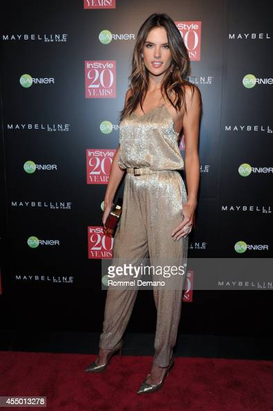 Alessandra Ambrosio attends the Instyle Hosts 20th Anniversary Party at Diamond Horseshoe at the Paramount Hotel on September 8 2014 in New York City