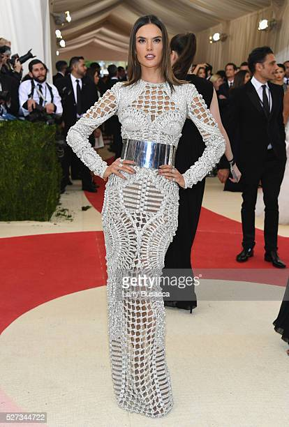 Alessandra Ambrosio attends the 'Manus x Machina Fashion In An Age Of Technology' Costume Institute Gala at Metropolitan Museum of Art on May 2 2016...