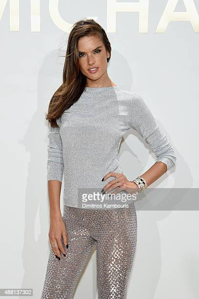Alessandra Ambrosio attends the new Gold Collection fragrance launch hosted by Michael Kors featuring Duran Duran at Top of The Standard Hotel on...