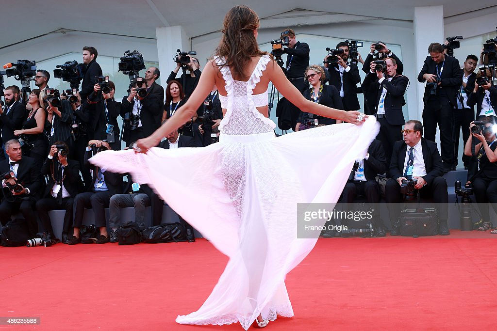 Alessandra Ambrosio attends the opening ceremony and premiere of 'Everest' during the 72nd Venice Film Festival on September 2, 2015 in Venice, Italy.