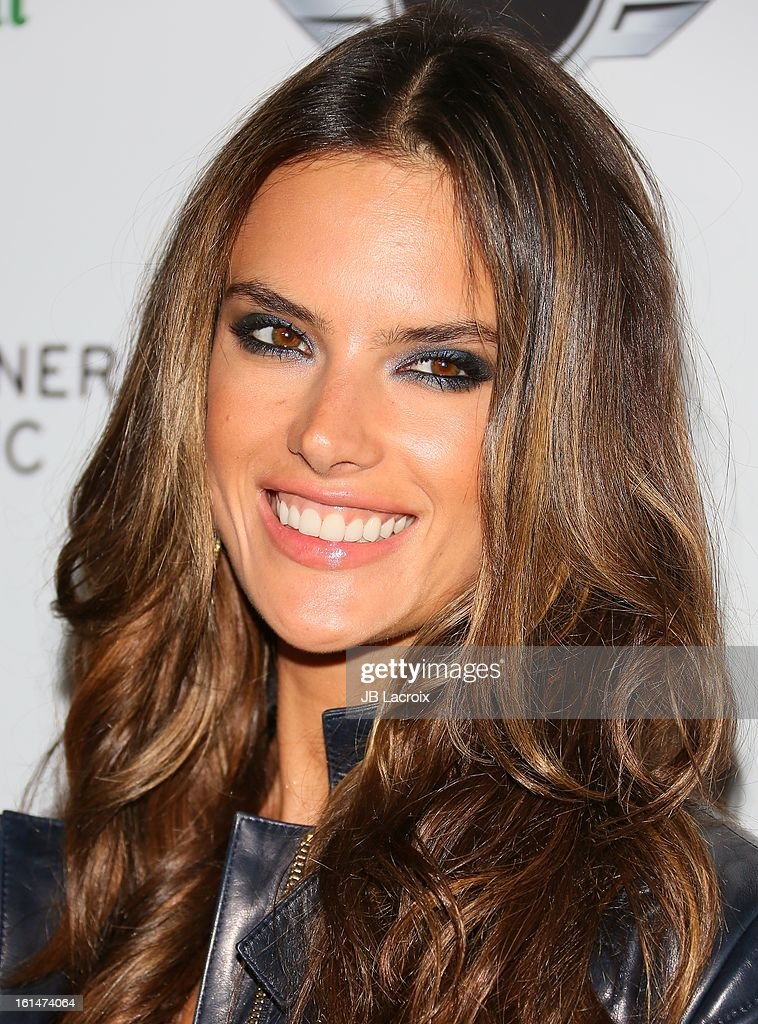 Alessandra Ambrosio attends the Warner Music Group 2013 Grammy Celebration Presented By Mini held at Chateau Marmont on February 10, 2013 in Los Angeles, California.
