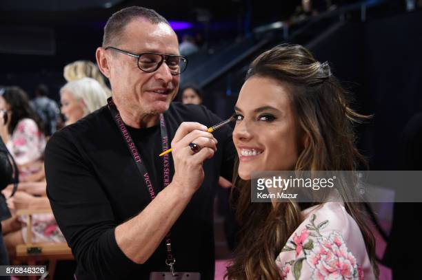 Alessandra Ambrosio backstage during 2017 Victoria's Secret Fashion Show In Shanghai at MercedesBenz Arena on November 20 2017 in Shanghai China