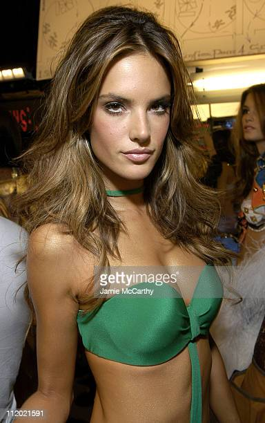 Alessandra Ambrosio during 10th Victoria's Secret Fashion Show Backstage at The New York State Armory in New York City New York United States