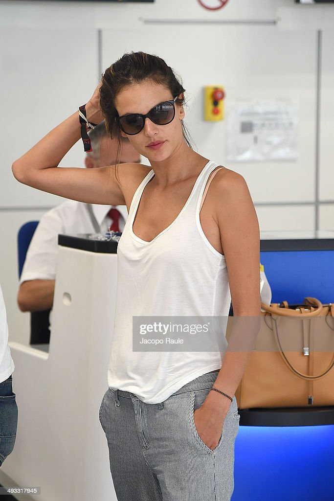 Alessandra Ambrosio is seen arriving in Nice for the 67th Annual Cannes Film Festival on May 23, 2014 in Nice, France.