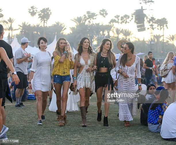 Alessandra Ambrosio is seen at The Coachella Valley Music and Arts Festival on April 17 2016 in Los Angeles California