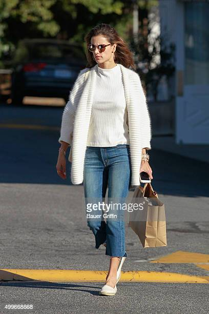 Alessandra Ambrosio is seen in Brentwood on December 02 2015 in Los Angeles California