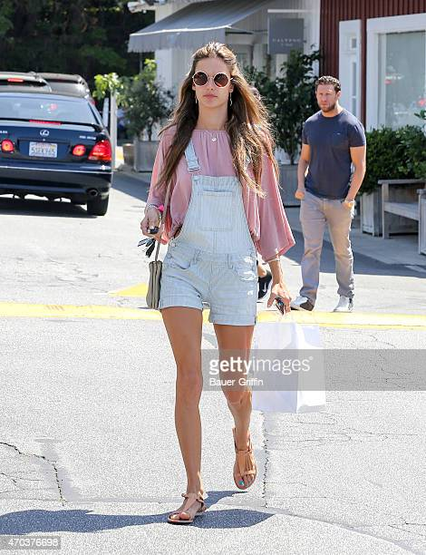 Alessandra Ambrosio is seen in Los Angeles on April 19 2015 in Los Angeles California