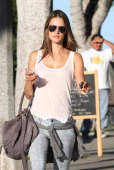 Alessandra Ambrosio is seen in Santa Monica on October 25 2012 in Los Angeles California