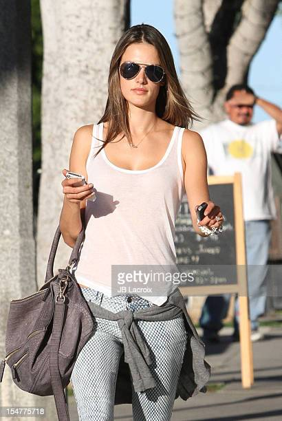 Alessandra Ambrosio is seen in Santa Monica on October 25 2012 in Los Angeles California