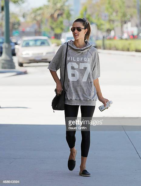 Alessandra Ambrosio is seen on April 04 2015 in Los Angeles California