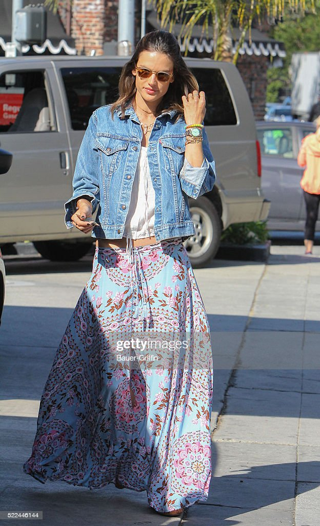 Alessandra Ambrosio is seen on April 19 2016 in Los Angeles California