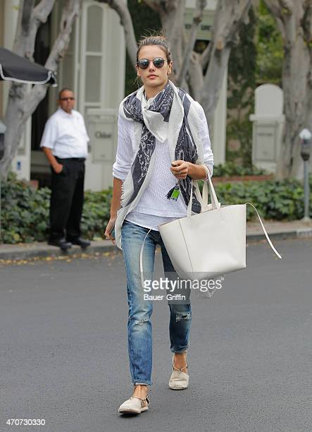 Alessandra Ambrosio is seen on April 22 2015 in Los Angeles California