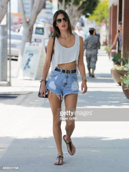 Alessandra Ambrosio is seen on August 07 2014 in Los Angeles California
