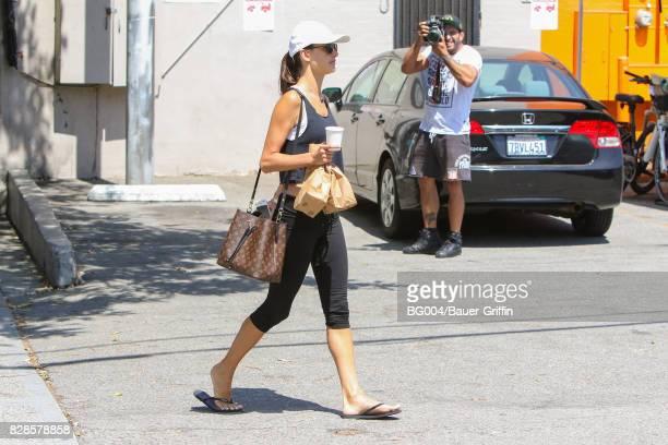 Alessandra Ambrosio is seen on August 09 2017 in Los Angeles California