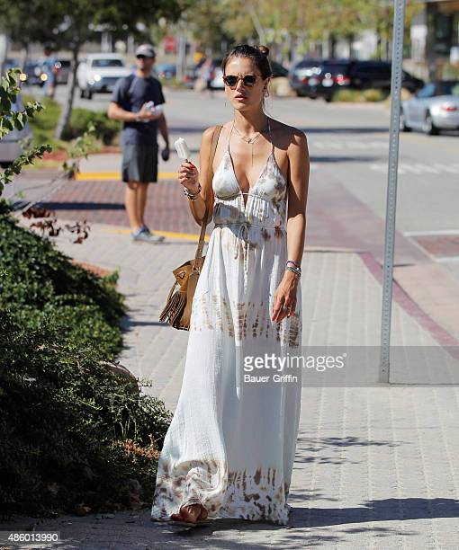 Alessandra Ambrosio is seen on August 30 2015 in Los Angeles California