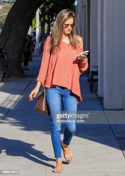 Alessandra Ambrosio is seen on December 05 2017 in Los Angeles California
