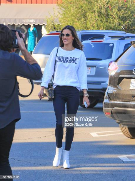 Alessandra Ambrosio is seen on December 06 2017 in Los Angeles California