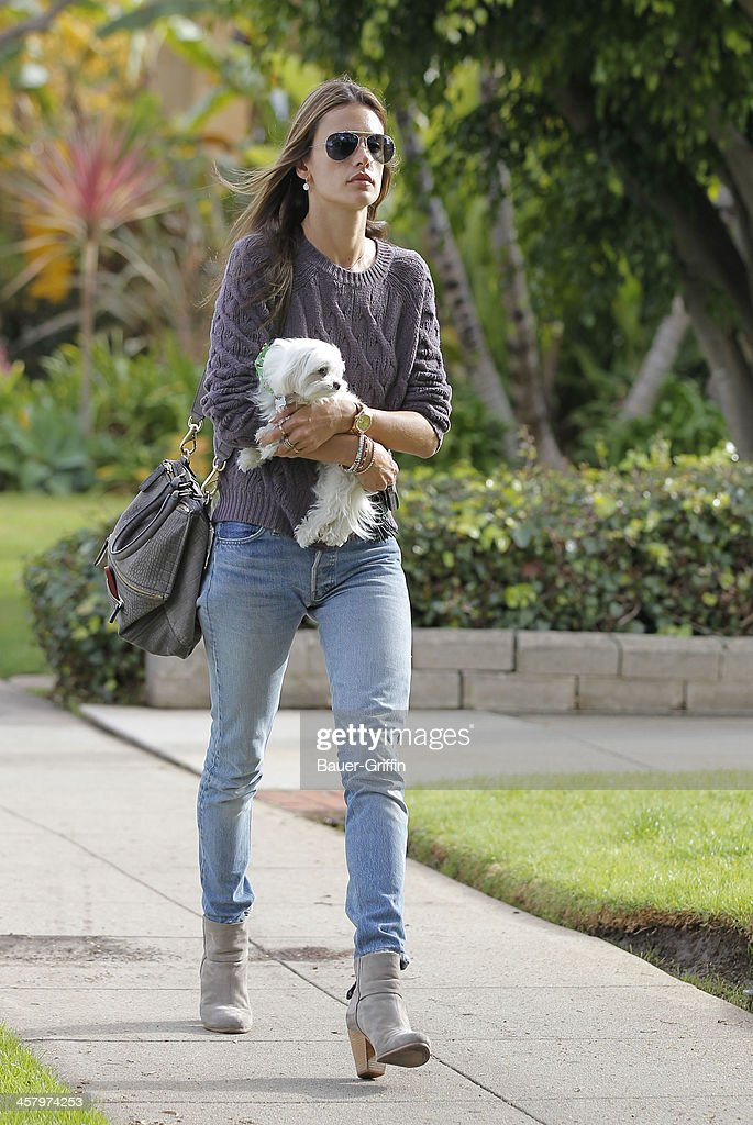 Alessandra Ambrosio is seen on December 19, 2013 in Los Angeles, California.